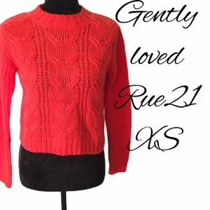 Orange Knit Sweater XS